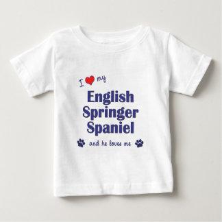 I Liebe mein englischer SpringerSpaniel Baby T-shirt