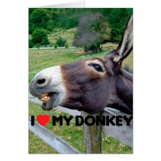 I Liebe mein Esel-lustiges Maultier-Vieh Mitteilungskarte