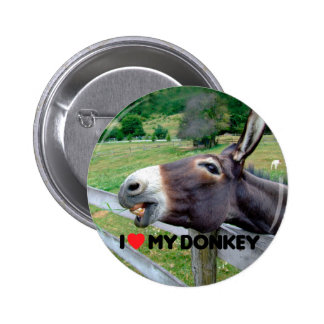 I Liebe mein Esel-lustiges Maultier-Vieh Runder Button 5,1 Cm