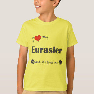 I Liebe mein Eurasier (weiblicher Hund) T-Shirt