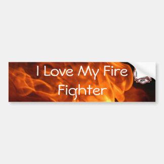 I Liebe mein Feuer-Kämpfer Autoaufkleber