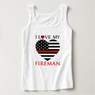I Liebe mein Feuerwehrmann - Feuerwehrmann Tank Top