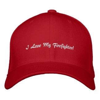 I Liebe mein Feuerwehrmann! Gestickter Hut Bestickte Mütze