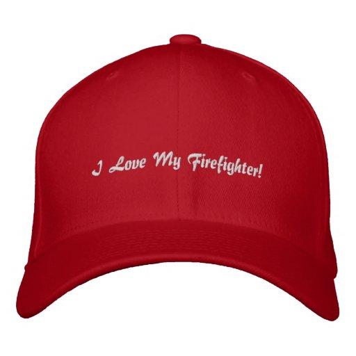 I Liebe mein Feuerwehrmann! Gestickter Hut Bestickte Caps