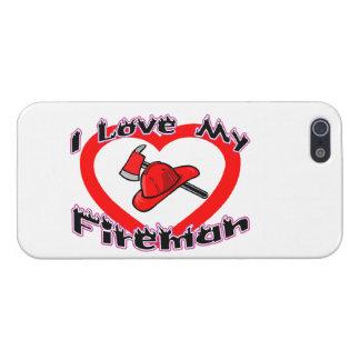 I Liebe mein Feuerwehrmann iPhone 5 Hülle
