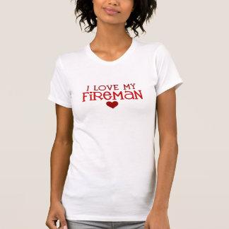 I Liebe mein Feuerwehrmann T-Shirt