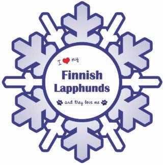 I Liebe mein finnisches Lapphunds (mehrfache Hunde Foto Skulptur