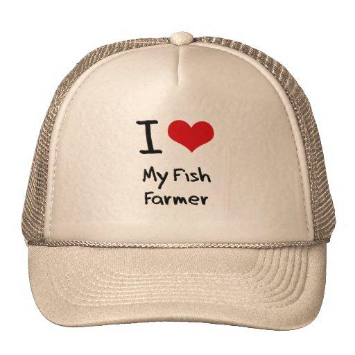 I Liebe mein Fisch-Bauer Trucker Mütze