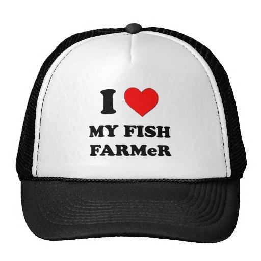 I Liebe mein Fisch-Bauer Retrokappe