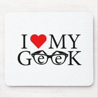 I Liebe mein Geek Mousepads