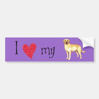 I Liebe mein gelber Labrador Autoaufkleber