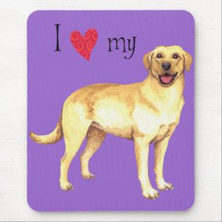 I Liebe mein gelber Labrador Mousepad