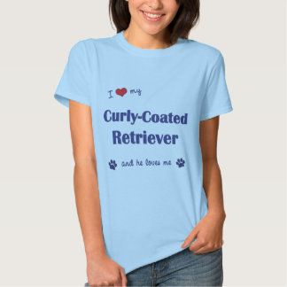 I Liebe mein Gelockt-Überzogener Retriever T-shirt
