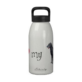 I Liebe mein Gelockt-Überzogener Retriever Wasserflasche