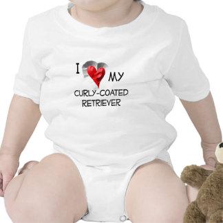 I Liebe mein Gelockt-Überzogener Retriever Baby Strampelanzug