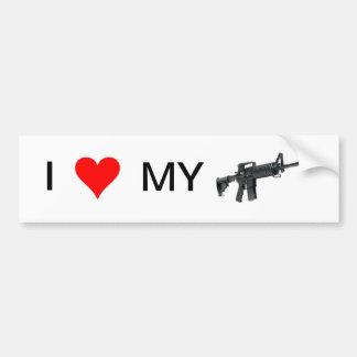 I Liebe mein Gewehr (AR-15) Autoaufkleber