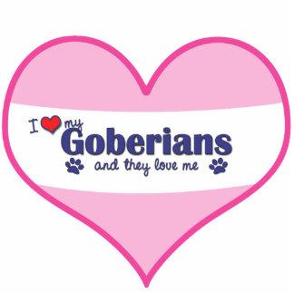 I Liebe mein Goberians (mehrfache Hunde) Fotofigur