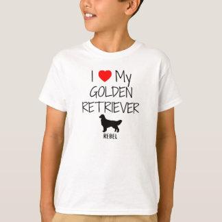 I Liebe mein goldener Retriever T-Shirt