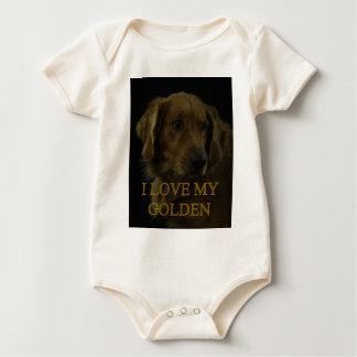 I Liebe mein Goldenes Baby Strampler