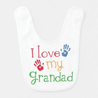 I Liebe mein Grandad-Baby-Säuglings-Schellfisch Babylätzchen
