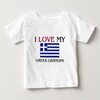 I Liebe mein griechischer Großvater Baby T-shirt