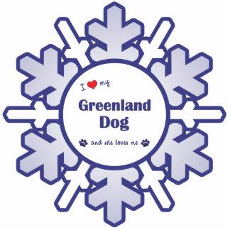 I Liebe mein Grönland-Hund (weiblicher Hund) Acrylausschnitt
