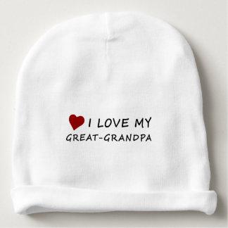I Liebe mein Groß-Großvater mit Herzen Babymütze
