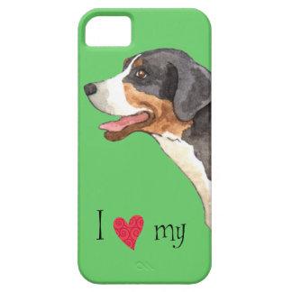 I Liebe mein größerer Schweizer Gebirgshund Etui Fürs iPhone 5