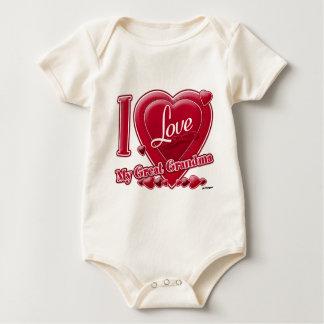 I Liebe mein großes Großmutterrot - Herz Baby Strampler