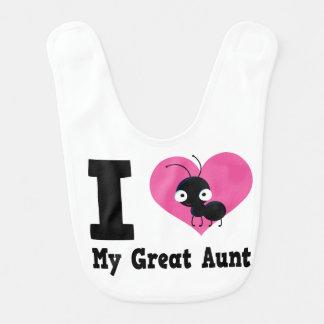 I Liebe mein großes Mädchen-Schellfisch-Geschenk Babylätzchen