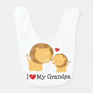 I Liebe mein Großvater-Baby-Säuglings-Schellfisch Lätzchen