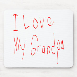 I Liebe mein Großvater! Mousepad