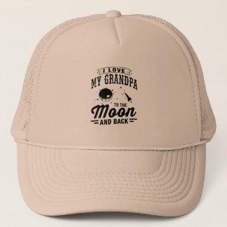 I Liebe mein Großvater zum Mond und zur Rückseite Truckerkappe