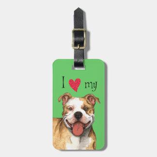 I Liebe mein Gruben-Stier-Terrier Kofferanhänger