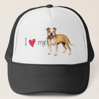 I Liebe mein Gruben-Stier-Terrier Truckerkappe