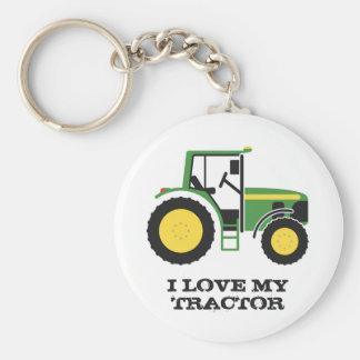I Liebe mein grüner Traktor-Schlüsselring Schlüsselanhänger