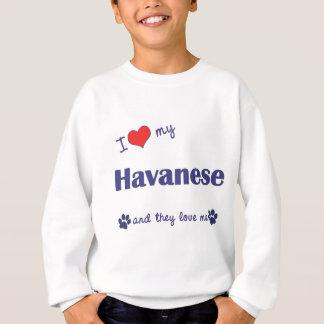 I Liebe mein Havanese (mehrfache Hunde) Sweatshirt