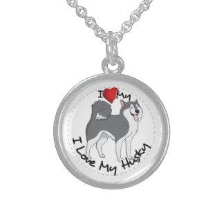 I Liebe mein heiserer Hund Sterling Silberkette