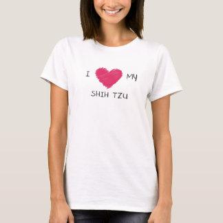 I Liebe mein Herz-T - Shirt Shih Tzu
