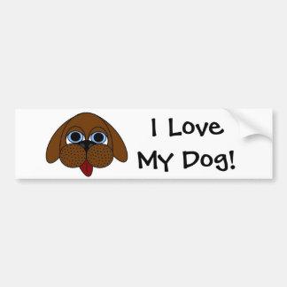 I Liebe mein Hund! Autoaufkleber