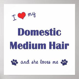 I Liebe mein inländisches mittleres Haar (weiblich Plakatdruck