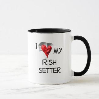 I Liebe mein Irischer Setter Tasse
