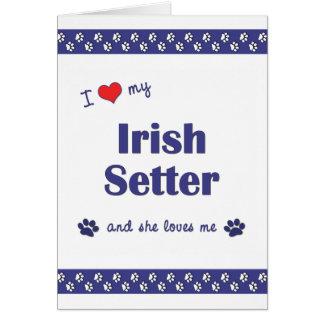 I Liebe mein Irischer Setter (weiblicher Hund) Karte