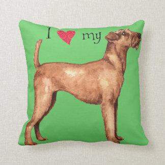 I Liebe mein irischer Terrier Kissen