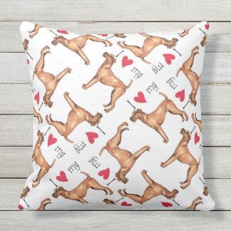 I Liebe mein irischer Terrier Kissen Für Draußen