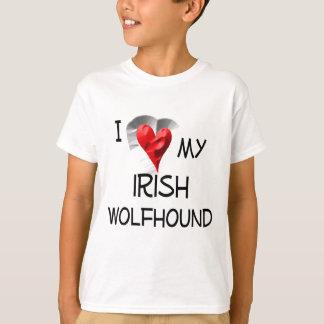 I Liebe mein irischer Wolfhound T-Shirt