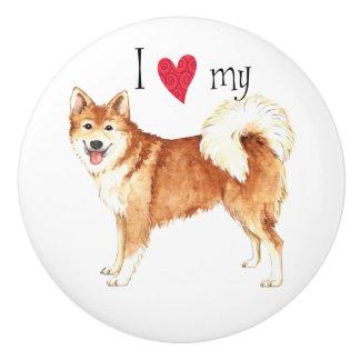 I Liebe mein isländischer Schäferhund Keramikknauf