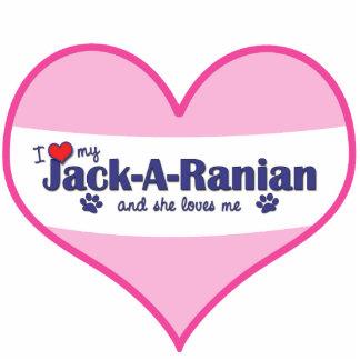 I Liebe mein Jack-EIn-Ranian (weiblicher Hund) Foto Skulptur