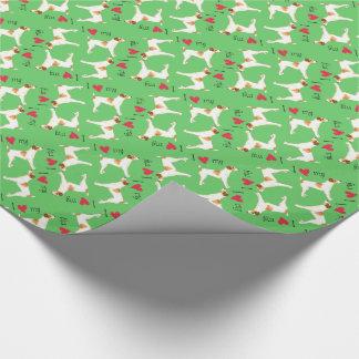 I Liebe mein Jack-Russell-Terrier Geschenkpapier