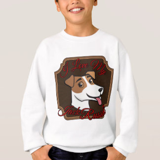 I Liebe mein Jack-Russell-Terrier Sweatshirt